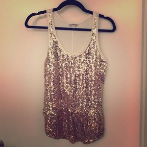 Sequined racerback tank from Express
